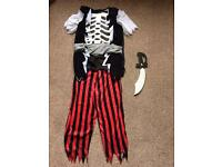 Scary pirate costume age 6-7