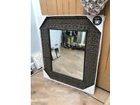 Beautiful Large Rattan Framed Wall Mirror