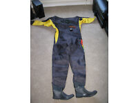 Man's Scuba Dry Suit and Fleece Inner, Large - Would Suit 6ft/ 6ft 2 inch Guy