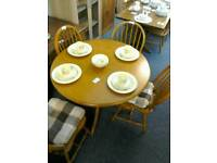 Round table with 4 chairs #30381 £85