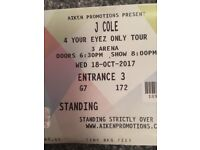 2 Jcole Tickets Standing £120 for both ONO