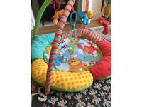 Play mat with dangling toys!