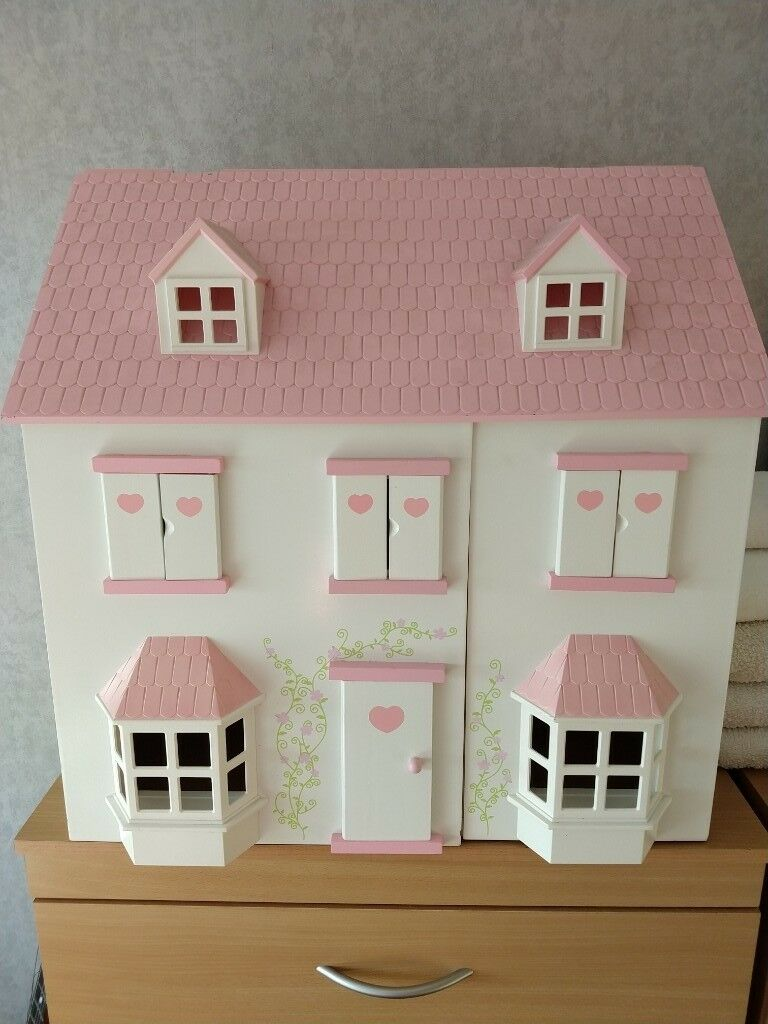 Child S Wooden Dolls House With Dolls And House Furniture For Sale