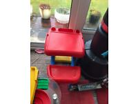 Kids table and chair, scooter,car ramp