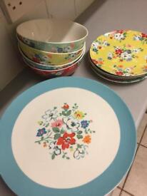 Cath Kidston Plate & Bowl Set