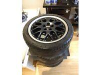 "4x Genuine BBS RS 771 16"" Alloys Alloy Wheels Fresh Tyres 195/45/16 80V VW GOLF POLO"