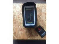 Bike Handlebar Bag, XPhonew Bicycle Top Tube Pouch, Cycling Frame Bag Phone Mount Holder - UNOPENED