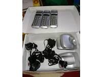 House phones triple set