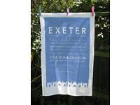 Exeter tea towels 100% cotton designed in Topsham