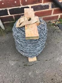 Barbed wire drum