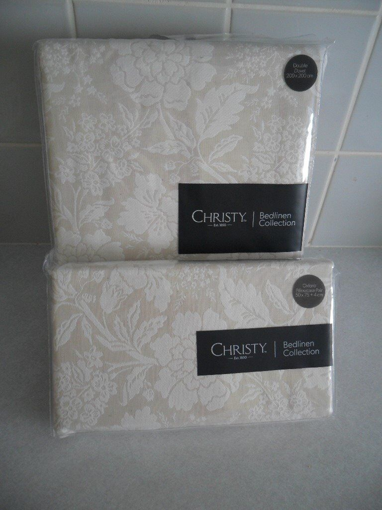 Christy Bed Linen Collection Double Duvet Cover Pillow Cases New Still