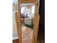 £39 Large Free Standing Mirror, Cheval style, all solid pine frame - local delivery possible