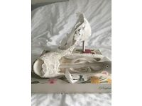 Vintage Lacey wedding shoes