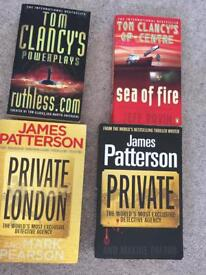 James Patterson and Tom Clancy Books