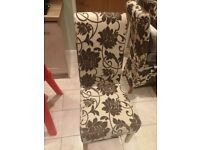 Patterned dining chair x 2
