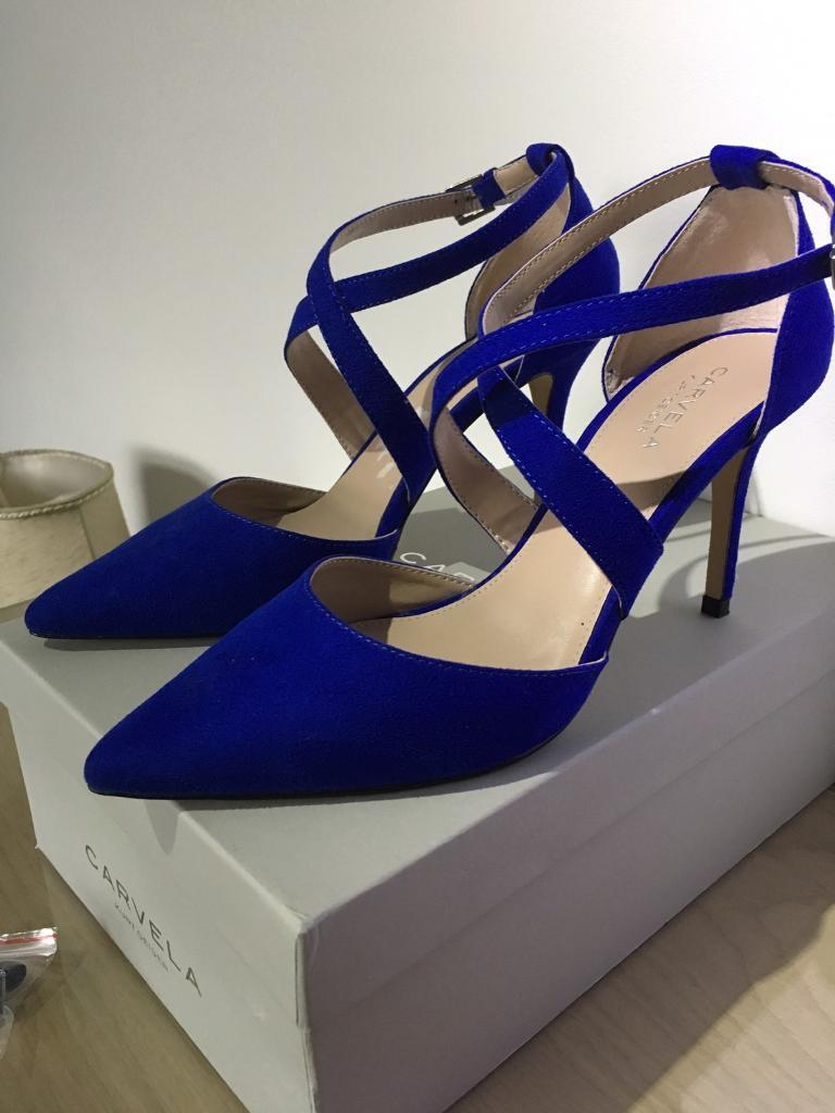Ladies Carvela Royal Blue Shoes Size 6 In Cyncoed