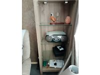 Living room unit very heavy 3 glass serves cost £180 selling for £50 or near offer buyer to collect