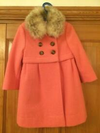 John Lewis Girls Fur Collar Coat