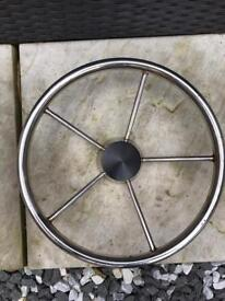 Stainless boat steering wheels