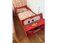 Lighting McQueen toddler bed & mattress