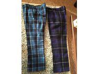 Gents tartan trousers mint condition