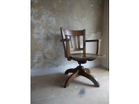 """""""Sikes"""" Oak Desk Chair"""