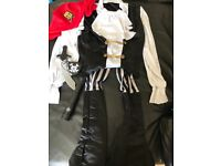 Various Pirate Costumes with accessories