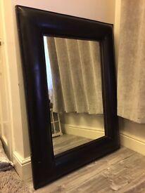 Dark brown black faux leather frame door mirror £20 ono