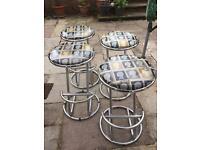 Set of 4 John Lewis metal Bar Stools