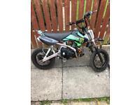 110cc pit bike stomp thumpstar lifan pitbike