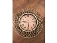 REDUCED Beautiful Metal Madison Co Wall Clock
