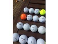 Titleist Golf Balls. Tour soft, nxt, trusoft. Used 58 balls