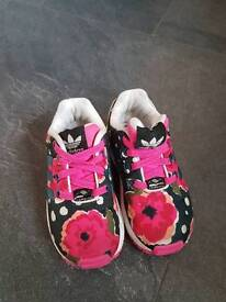 Infant girls Adidas trainers size 6