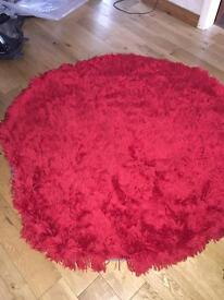 Brand new red shaggy rug