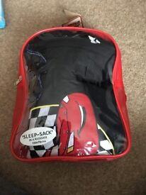 Cars themed sleeping bag