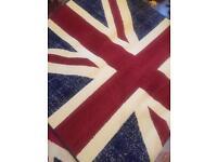 Brand new vintage distressed look Union Jack rug