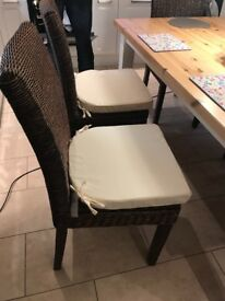 6 x Wicker dining chairs