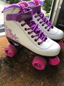 SFR Vision 2 Roller Skates, White/Purple, Girl's Size 4
