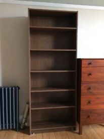 Dark brown tall bookshelf