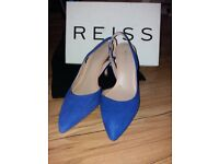 Women's royal blue size 5 Reiss sling back shoes worn once