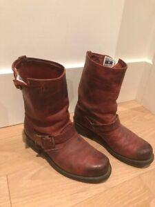 Frye Women's Veronica Short Red Leather Boots