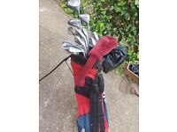 Golf clubs, bags & trolley
