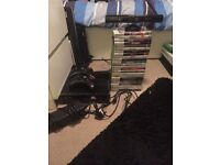 Xbox 360 with Kinect, 24 games , 2 controllers