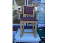 SET OF 4 BEECH CARVER TYPE CHAIRS