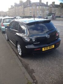 REDUCED - 2007 Black Mazda 3 Sport 2.0L Petrol with full leather seats and Bose Speaker System