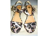 River Island wedges lilac buckle strap shoes size 5 UK or 38 EU
