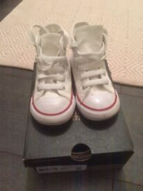 Converse All Star Hi Tops White - Infant Size 7