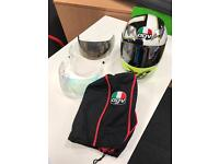 AGV Rossi Motorcycle Helmet with visits and bag