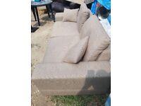 Dwell 3 seater mocha fabric Sofa