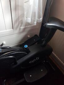 Opti cross trainer (air walker and bike)